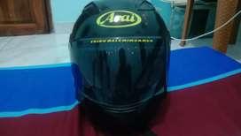 Helm ori r25 custom sendiri jadi ala ala arai