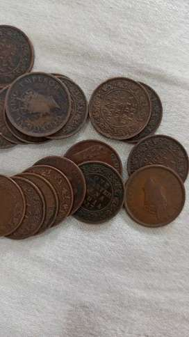 British quarter Anna 10 coins