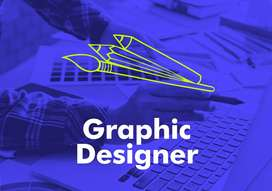 Full Time Graphic Designer Salary 20K, NO CHARGES