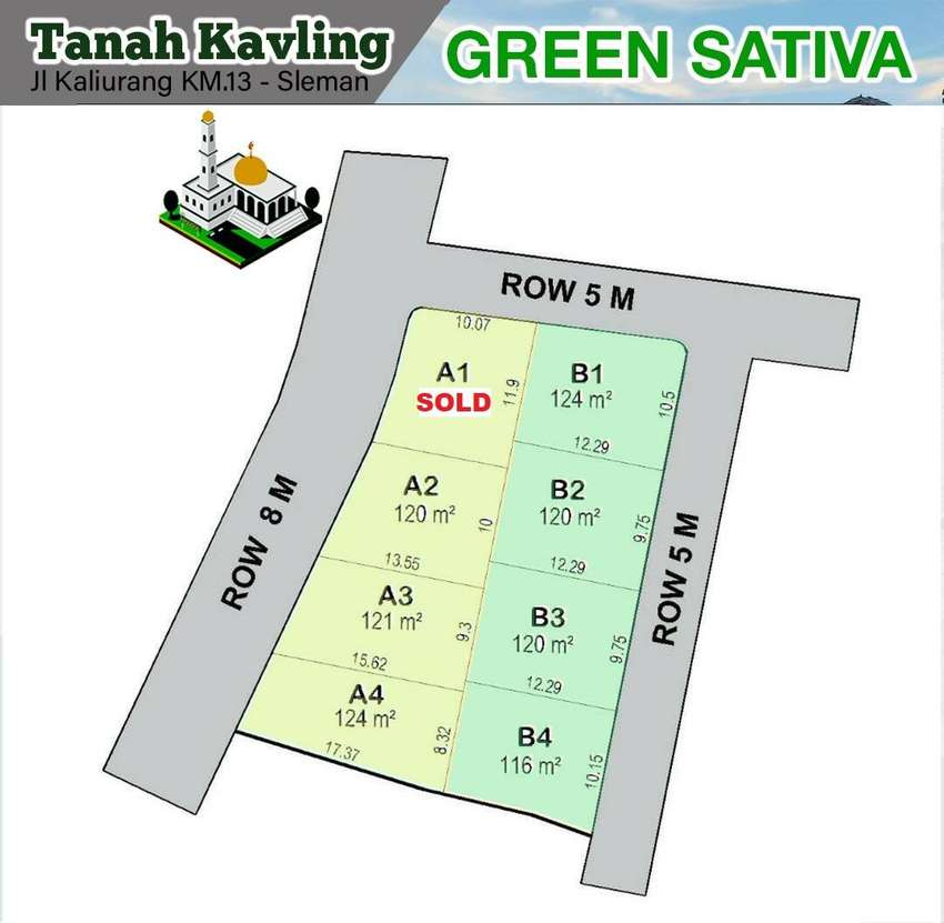 Tanah Murah Jl. Kaliurang KM 13 Hanya 2 Jt-an