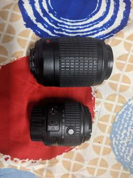 Nikon afs18-55 and 55-200 lens for sale