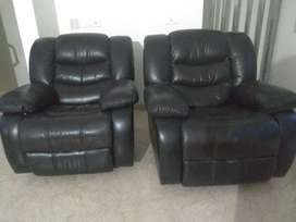 Rocking Rotating Leather Recliner