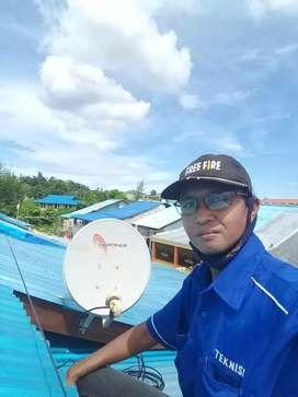 Parabola mini antena televisi gratis tanpa iuran bulanan,gresik