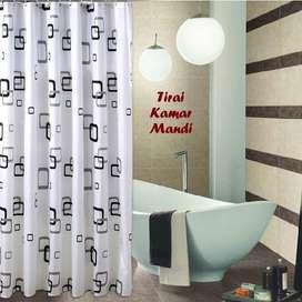 Tirai kamar mandi murah