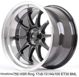 velg racing HIROSHIMA 756 HSR R17X9/10 H4x100 ET30 BML