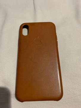 Leather case original apple brown for iphone xs max