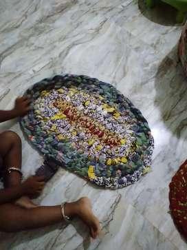Hand made floor matt