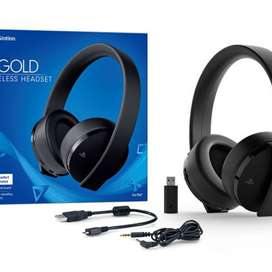 SONY GOLD HEADPHONE FOR PS4