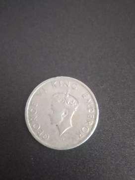 1947 half rupee george king emperor