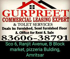 Furnished office for rent Ranjit avenue B Block