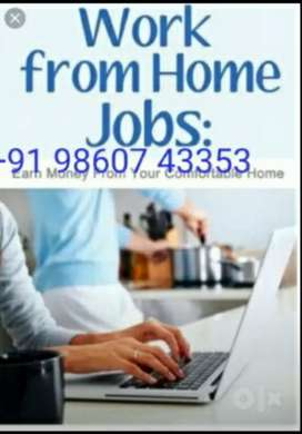 Data Entry Operator Part Time Work From Home Rs.40k PM fixed,