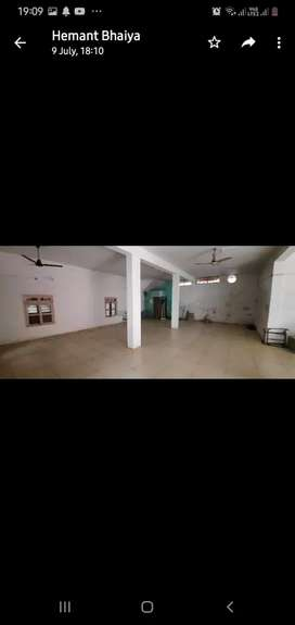 Hall on rent for shop , office banks etc