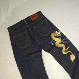 Celana jeans over time selvedge made in u.s.a sukajan