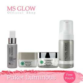 Ms Glow Paket Luminous Whitening Pemutih Wajah Terbaik Original BPOM