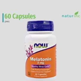 Now Foods, Melatonin, 3 mg, 60 Capsules