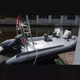 RIGID INFLATABLE BOAT RIB 5 METER MATERIAL HYPALON INCLUDE ENGINE 60PK