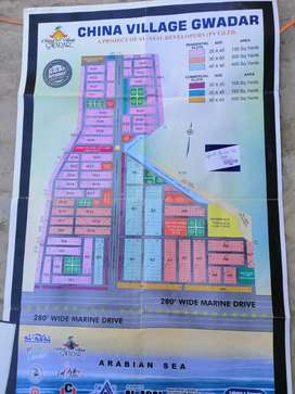 Residential plot in China village guwader