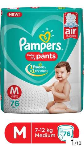 Pampers M , L Size MRP 1049
