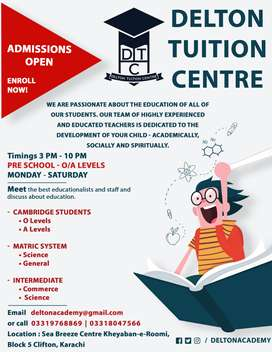 Admissions Open for O/A levels with affordable fee!
