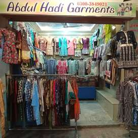 Garments business for sale