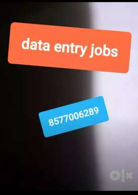 Data entry work at your home