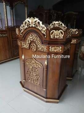 Mimbar furniture podium ready stock