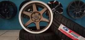 Paket velg+ban semislick GT Champiro SX2 R16 cocok untuk Luxio Ertiga