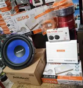 Plus Pasang,Power ADS+Subwoofer Audiobank+Tweeter Ts+Box mdf+Kabel2