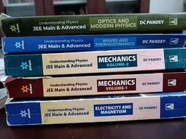 All Five D.C Pandey JEE physics series books