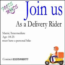 Required professional rider For delivery