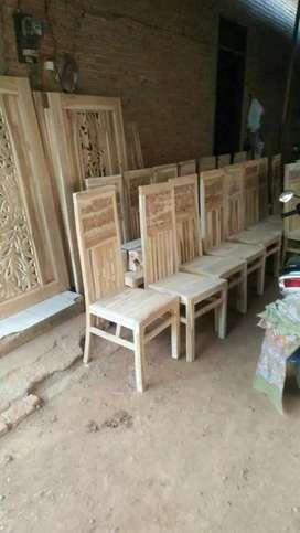 Kursi makan murah ukir kayu jati