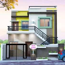 1500sqft प्लाट में 3Bhk Duplex बंगला 39लाख₹में,सब्सिडी के बाद36.33लाख₹