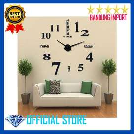 Jam Dinding Besar DIY Giant Clock Quartz 80-130cm