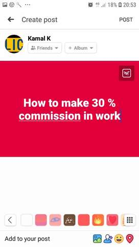 Part time job  for one sale get 30 % commission