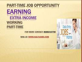 Part time jobs for students very simple just typing in notepad