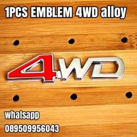 1PCS EMBLEM 4WD alloy