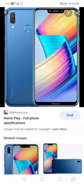 Honor play 6gb/64gb..with 970 processor...