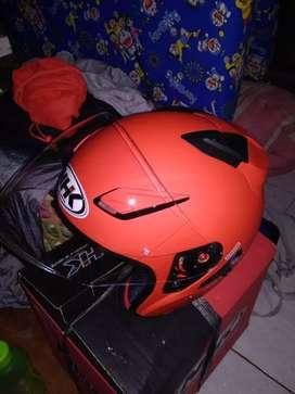 Helm NHK R 1 merah doff