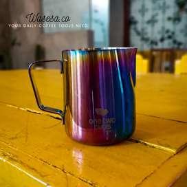 Milk jug rainbow 350ml/alat kopi/cappuccino/espresso