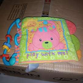 Soft book rattle untuk bayi