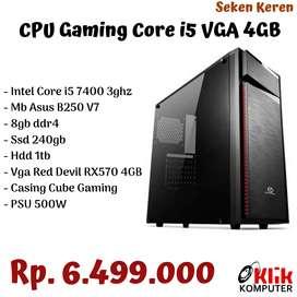 CPU Gaming Core i5  gen 7 RAM 8GB VGA 4 GB