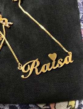 gold plated  name lockets