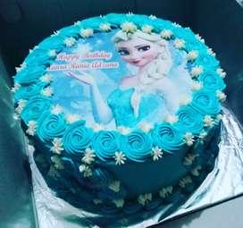 Kue ulang tahun foto edibel 20cm