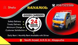 Tata Ace for daily or monthly rent with driver.