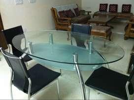 GODREJ Duston dining table & 4 GODREJ Jupiter Chairs