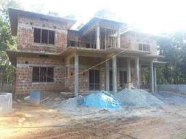 House/ Home/ Building Construction, Contractor, Grey Stucture, Labour