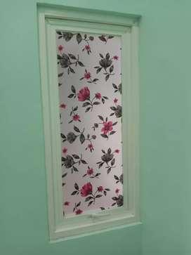 Stiker kaca film bunga