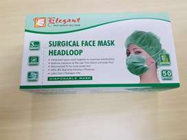 Masker Hijab 3 lapis ELEGANT isi 50 pcs - udh terdaftar kemenkes