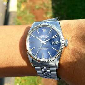 Ori Rolex Oyster Perpetual DateJust 16014 Blue Grey ghost dial Zenith