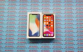 {iPhone X 256 GB Storage Color Silver Charger Box Good Condition}